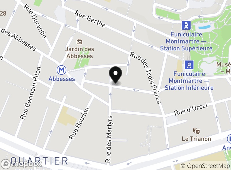 Location of Le Cambodge Montmartre