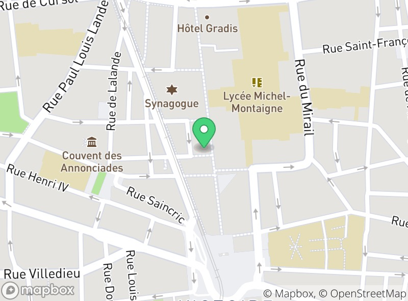 Location of Le Falafel