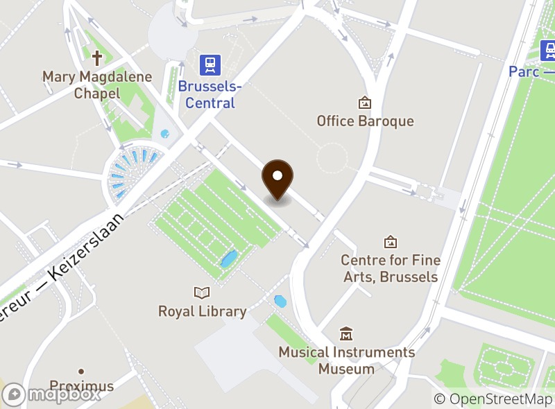 Location of Natural caffè Mont des Arts