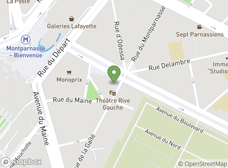 Location of Kyo Montparnasse