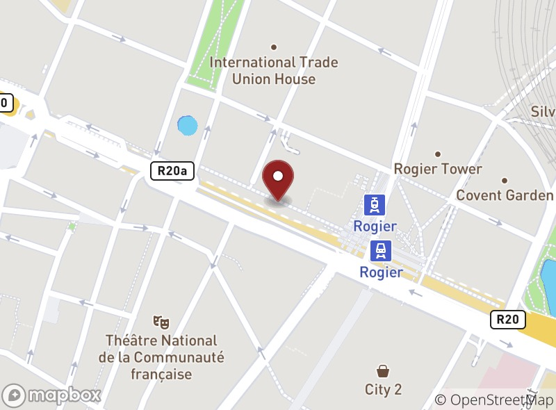 Location of Brussels Grill Rogier