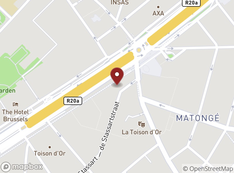 Location of Brussels Grill Toison d'or