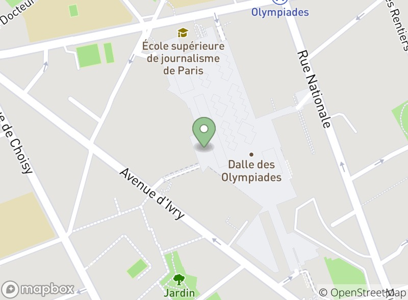 Location of La Maison du Falafel