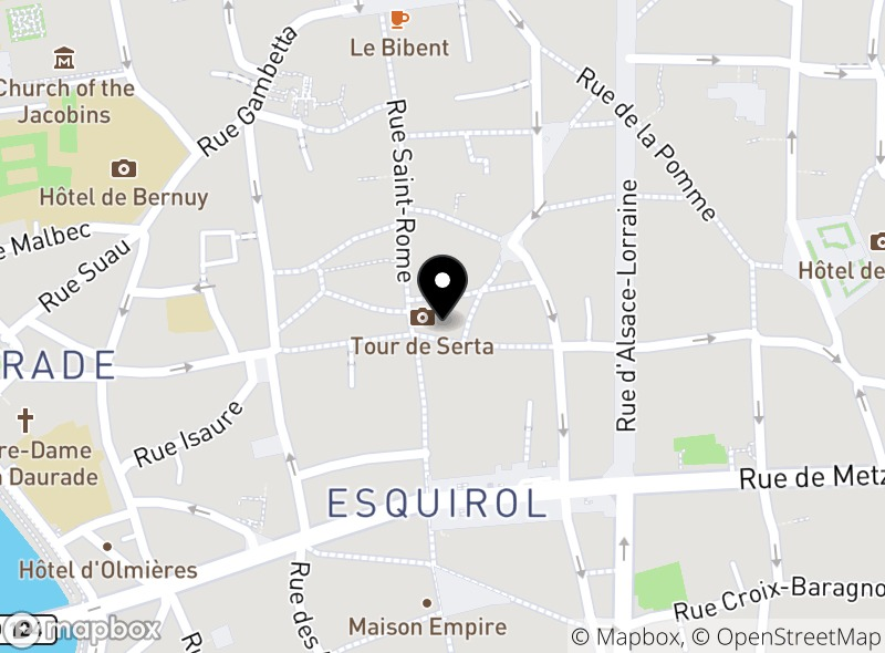 Location of Le Snack Toulousain
