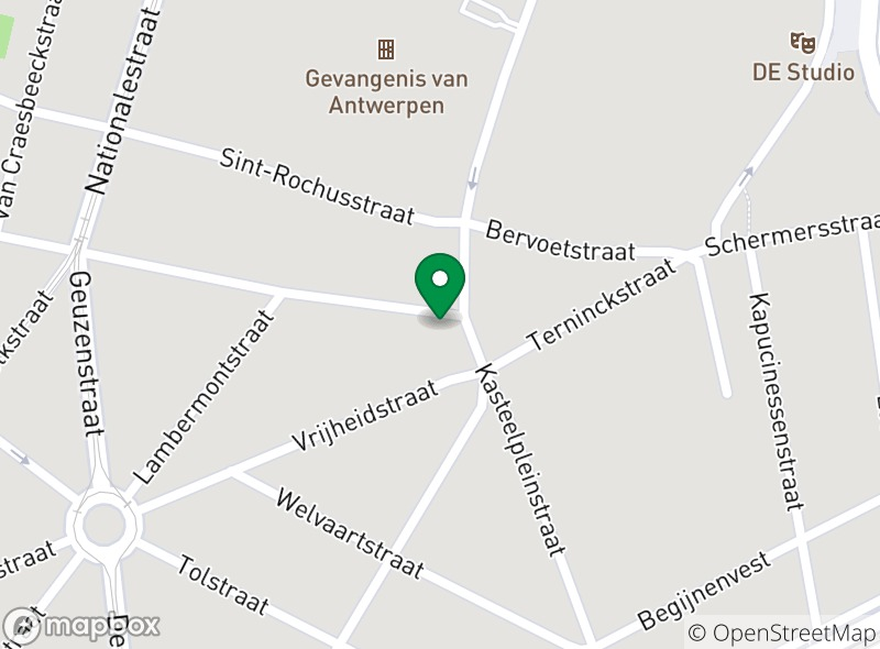 Location of Casa Mia Antwerpen