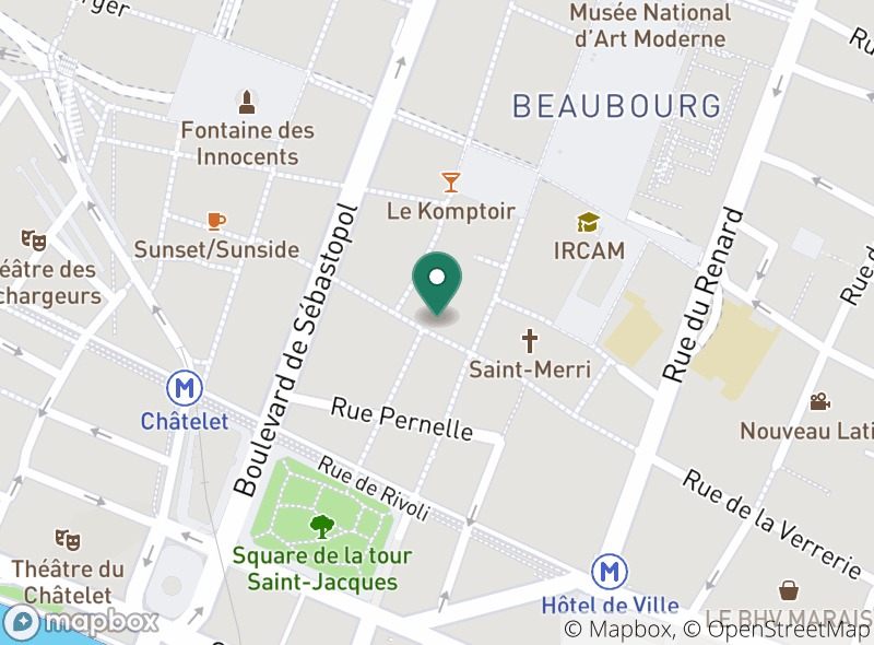 Location of Meating Corner - Marais