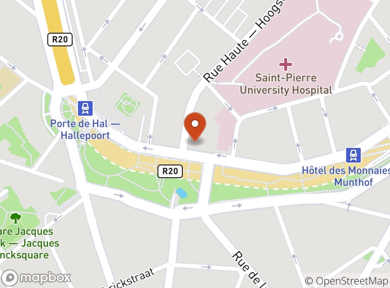 Location of Le Bistro - Porte de Hal