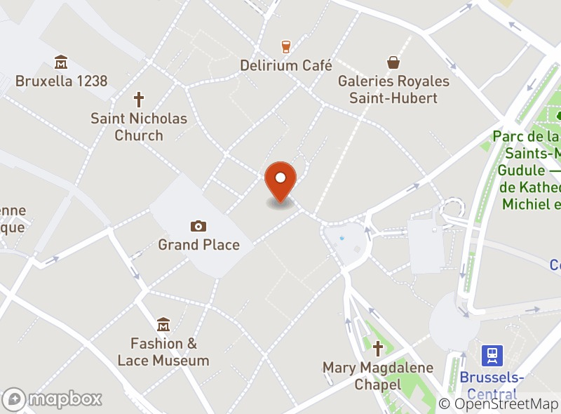 Location of Cafés Delahaut Bruxelles