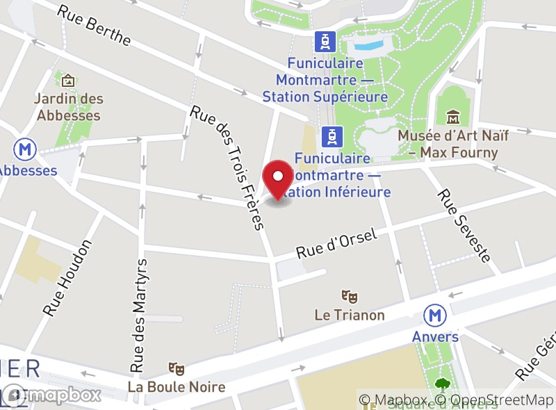 Location of Glace Bachir - Montmartre